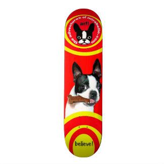 Boston Terrier Mirabelle skateboard