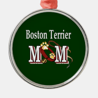 Boston Terrier Mom Christmas Ornament