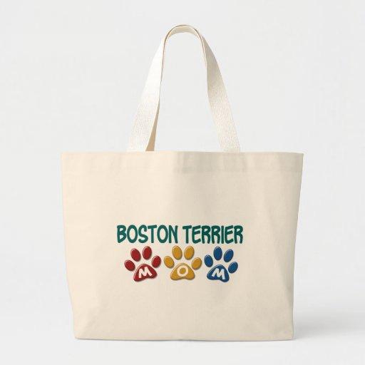 BOSTON TERRIER MOM Paw Print 1 Bag