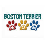 BOSTON TERRIER MOM Paw Print 1 Post Cards