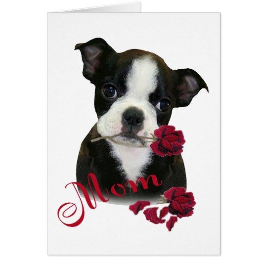 Boston Terrier  Mum Card