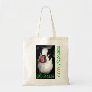 BOSTON TERRIER Organic Grocery Bag