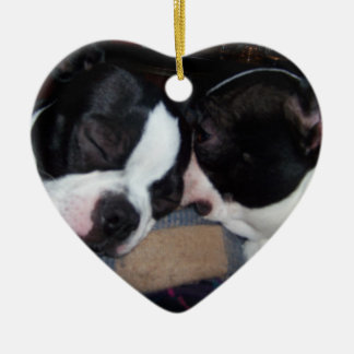 BOSTON TERRIER ORINAMENT CHRISTMAS ORNAMENT