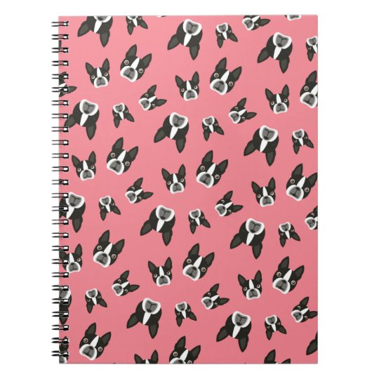 Boston Terrier Pattern Notepad - Watermelon Notebook
