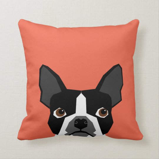 Boston Terrier Pillow Cute Funny Boston Terrier