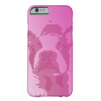 Boston Terrier Pink iPhone 6 case Barely There iPhone 6 Case