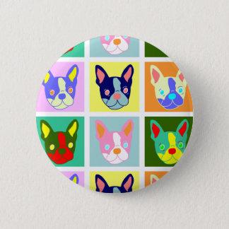 Boston Terrier Pop Art 6 Cm Round Badge