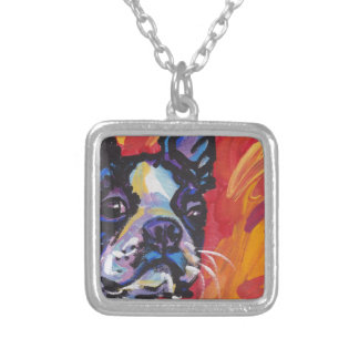 Boston Terrier Pop Art Necklace