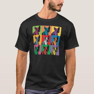 Boston Terrier Pop-Art T-Shirt