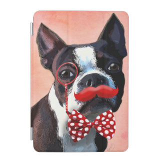 Boston Terrier Portrait with Red Bow Tie and 2 iPad Mini Cover