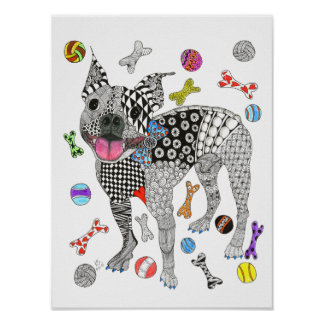 Boston Terrier Poster (You can Customize)