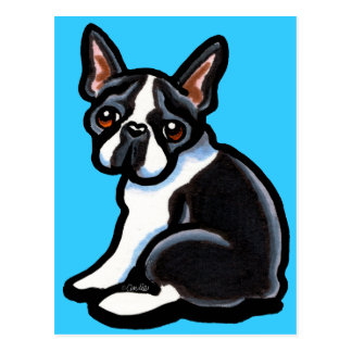 Boston Terrier Profile Post Cards