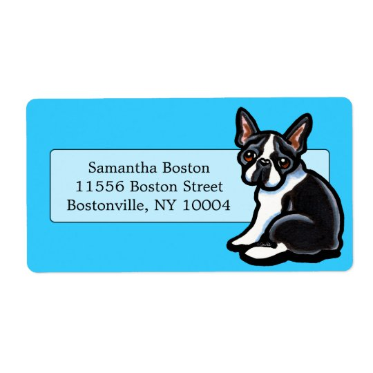 Boston Terrier Profile Studio Blue