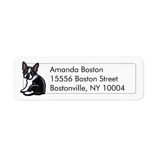 Boston Terrier Profile Studio Simple Return Address Label