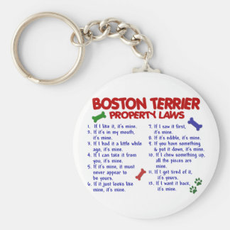 Boston Terrier Property Laws 2 Key Ring