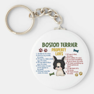 Boston Terrier Property Laws 4 Key Ring