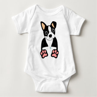 Boston Terrier Puppy Baby Bodysuit