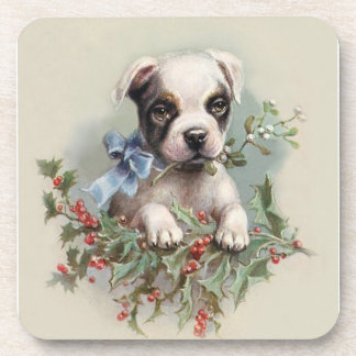 Boston Terrier Puppy - For Dog Lovers Drink Coaster