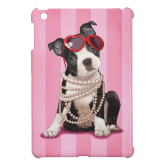Boston Terrier Puppy iPad Mini Covers