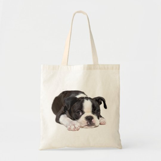 Boston Terrier Puppy Tote Bag