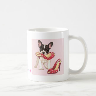 Boston Terrier Puppy With Shoes Coffee Mug