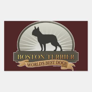 Boston Terrier Rectangular Sticker
