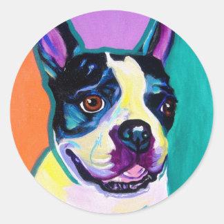 Boston Terrier Round Sticker