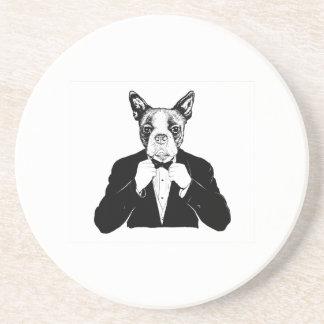 Boston Terrier Sandstone Coaster