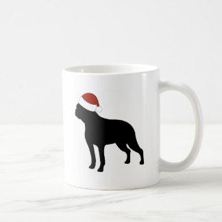 Boston Terrier Santa Hat Basic White Mug