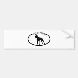 Boston Terrier Silhouette Black Bumper Sticker