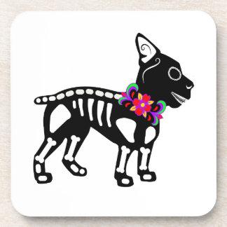 Boston Terrier Skeleton Coaster