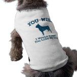 Boston Terrier Sleeveless Dog Shirt