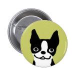 Boston Terrier Smile Pinback Buttons