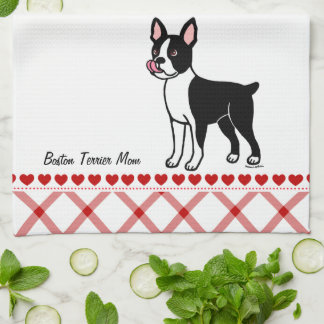 Boston Terrier Standing Tea Towel