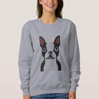 Boston Terrier Sweatshirt Womens
