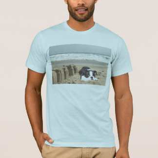 Boston Terrier T-Shirt Sandcastles