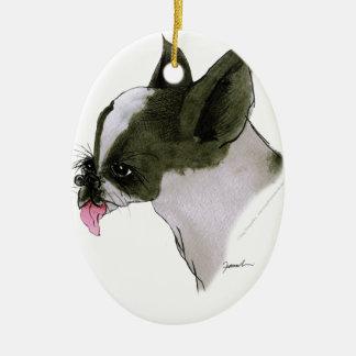 Boston Terrier, tony fernandes Christmas Ornament