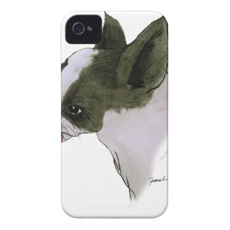 boston terrier, tony fernandes iPhone 4 Case-Mate cases