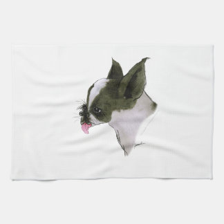boston terrier, tony fernandes tea towel