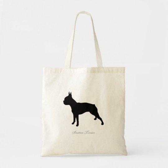 Boston Terrier Tote Bag (black silhouette)