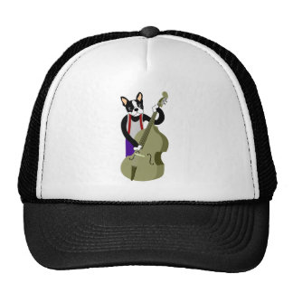Boston Terrier Upright  Bass Player Cap