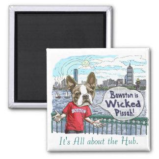 Boston Terrier Wicked Pissah Gear Magnet