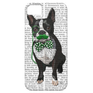 Boston Terrier With Green Moustache And Spotty iPhone 5 Covers