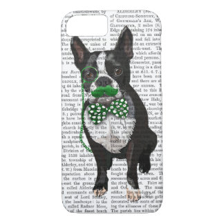 Boston Terrier With Green Moustache And Spotty iPhone 8/7 Case