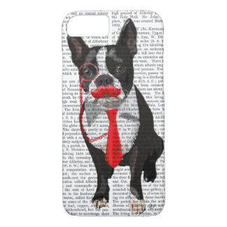Boston Terrier With Red Tie and Moustache 2 iPhone 8/7 Case