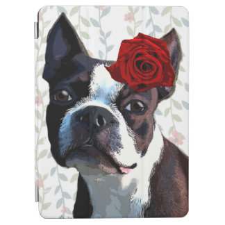 Boston Terrier with Rose on Head 2 iPad Air Cover