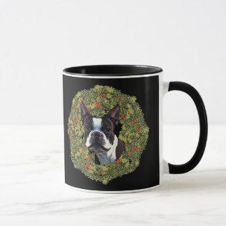 Boston Terrier Wreath Mug