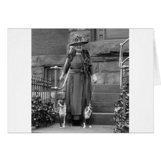 Boston Terriers & 1920s Fashion Card