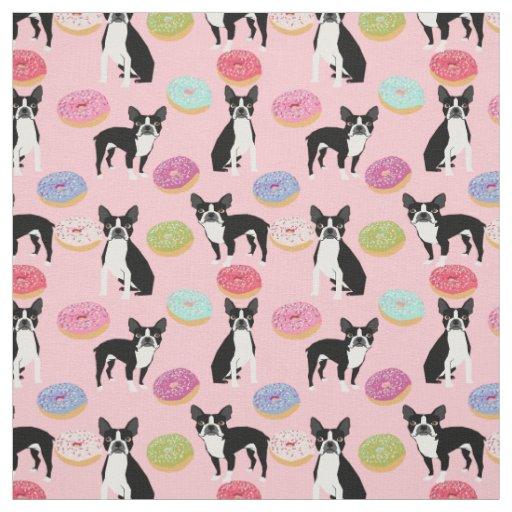 Boston Terriers Doughnuts - Cute Dog fabric