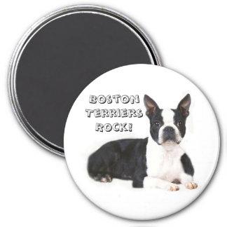 Boston Terriers Rock Magnet